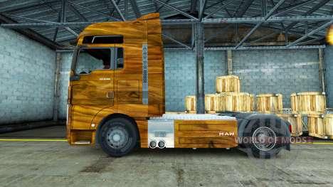 Скин Olive Wood на тягач MAN для Euro Truck Simulator 2