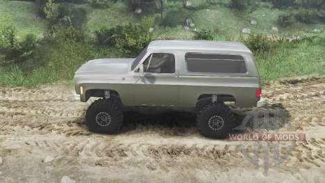 Chevrolet K5 Blazer 1975 [army green] [23.10.15] для Spin Tires