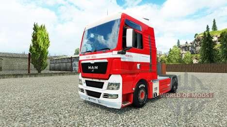 Скин Max Goll на тягач MAN для Euro Truck Simulator 2