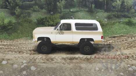 Chevrolet K5 Blazer 1975 [light saddle n white] для Spin Tires