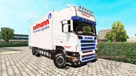 Scania R500 BDF Hellmann для Euro Truck Simulator 2