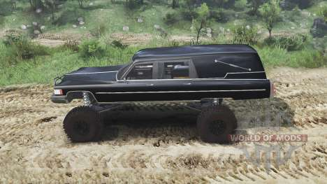 Cadillac Hearse 1975 [monster] [black mass] для Spin Tires