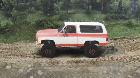 Chevrolet K5 Blazer 1975 [orange and white] для Spin Tires