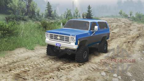 Chevrolet K5 Blazer 1975 [blue and black] для Spin Tires