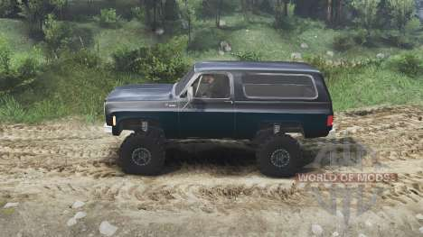 Chevrolet K5 Blazer 1975 [black and blue] для Spin Tires