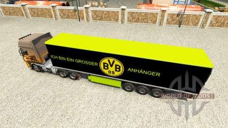 Скин BVB на полуприцеп для Euro Truck Simulator 2