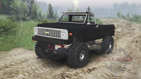 Chevrolet C10 Cheyenne 1972 [black] для Spin Tires