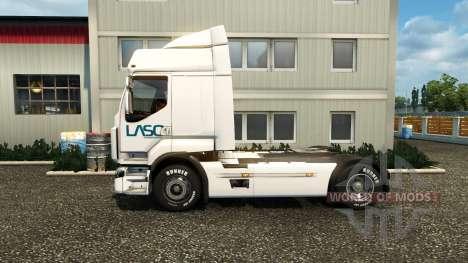Скин LASO на тягач Renault для Euro Truck Simulator 2