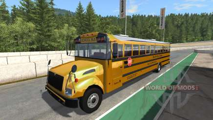 Blue Bird American School Bus v2.1 для BeamNG Drive