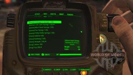 Удобная сортировка предметов для Fallout 4