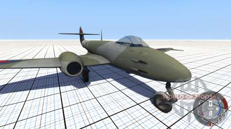 Gloster Meteor Mk. III Alpha для BeamNG Drive