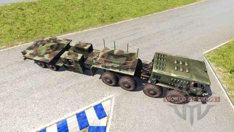 МАЗ-535 с полуприцепом для BeamNG Drive