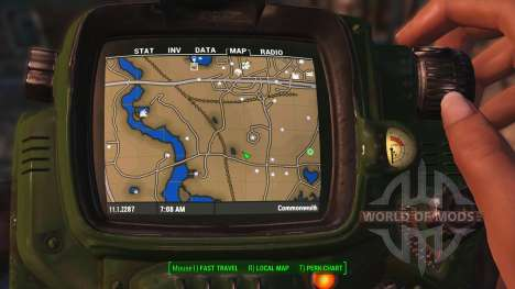 Цветная карта с обозначениями для Fallout 4