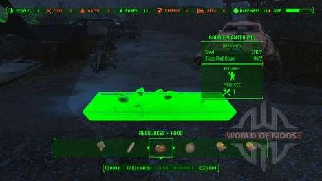 Working Food Planters для Fallout 4