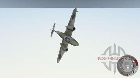 Gloster Meteor Mk. III Alpha для BeamNG Drive