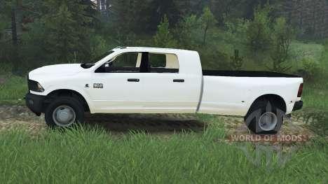 Dodge Ram 3500 dually v1.2 [08.11.15] для Spin Tires