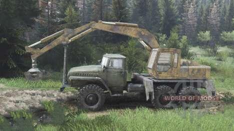 Урал-4320 с новыми погрузчиками [08.11.15] для Spin Tires