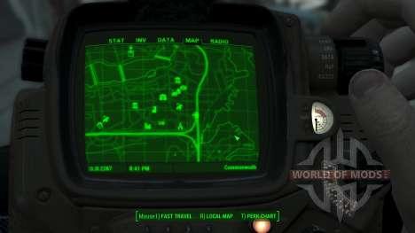 Immersive Map 4k - BLUEPRINT Inv. - Big Squares для Fallout 4