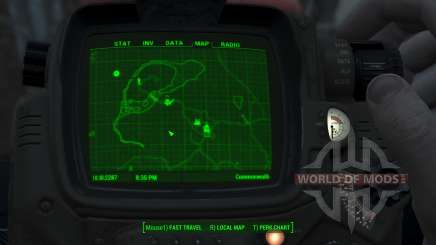 Immersive Map 4k - BLUEPRINT Inv. - Full Squares  для Fallout 4