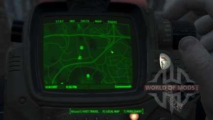 Immersive Map 4k - VANILLA - No Squares для Fallout 4