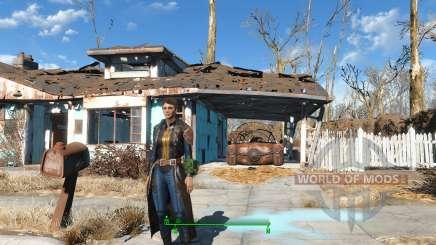 The Bad-Ass Vault Dweller Long Coat для Fallout 4