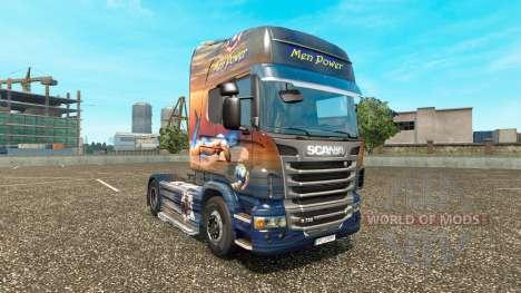 Скин Men Power на тягач Scania для Euro Truck Simulator 2