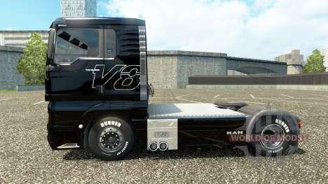 Скин V8 на тягач MAN v2.0 для Euro Truck Simulator 2