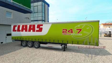 Скин CLAAS на полуприцеп для Euro Truck Simulator 2
