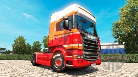 Скин Penta на тягач Scania для Euro Truck Simulator 2