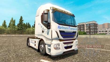 Скин Hartmann Transporte на тягач Iveco для Euro Truck Simulator 2