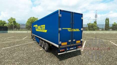 Скин Walter на полуприцеп для Euro Truck Simulator 2