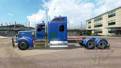 Kenworth W900L [customs] для Euro Truck Simulator 2