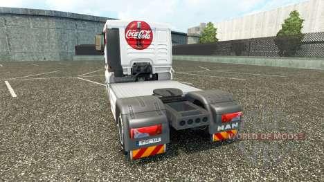 Скин Кока-кола на тягач MAN для Euro Truck Simulator 2