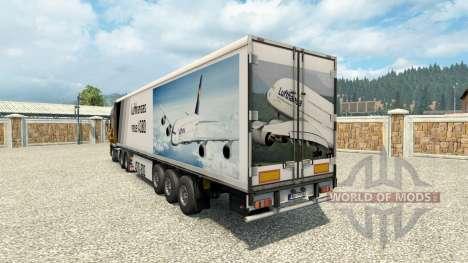 Скин A380 на полуприцеп для Euro Truck Simulator 2