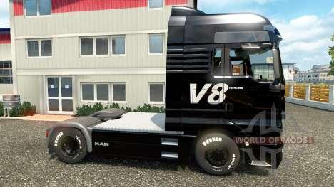 Скин V8 на тягач MAN для Euro Truck Simulator 2