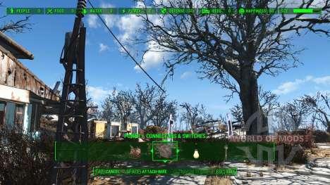 Более длинные силовые линии для Fallout 4