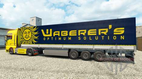 Скин Waberers на тягач MAN для Euro Truck Simulator 2