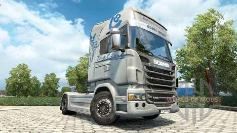 Скин Hartmann Transporte на тягач Scania для Euro Truck Simulator 2