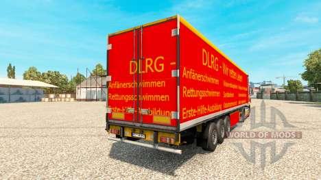 Скин DLRG на тягач DAF для Euro Truck Simulator 2
