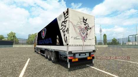 Скин Scania на полуприцеп для Euro Truck Simulator 2