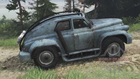 ГАЗ-М-20 Победа custom [08.11.15] для Spin Tires
