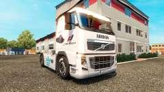 Скин Adidas на тягач Volvo