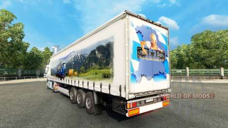 Скин Bavaria Express на тягач Volvo для Euro Truck Simulator 2