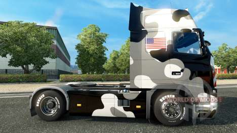 Скин U.S. Army Snow на тягач Volvo для Euro Truck Simulator 2