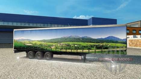 Скин Landscape на полуприцеп для Euro Truck Simulator 2