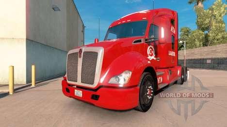 Скин ATA Lojistik на тягач Kenworth для American Truck Simulator
