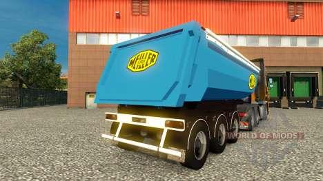 Скин Meiller Kipper на полуприцеп для Euro Truck Simulator 2