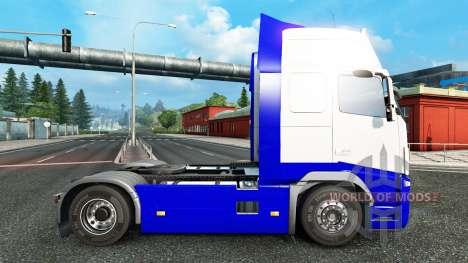 Скин Blue-White на тягач Volvo для Euro Truck Simulator 2