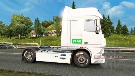 Скин PFAB на тягач DAF для Euro Truck Simulator 2