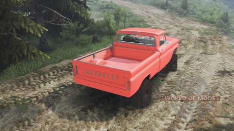 Chevrolet C30 1966 [orange] v1.1 [16.12.15] для Spin Tires